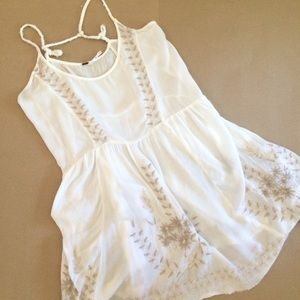 Free People gauzy embroidered sundress